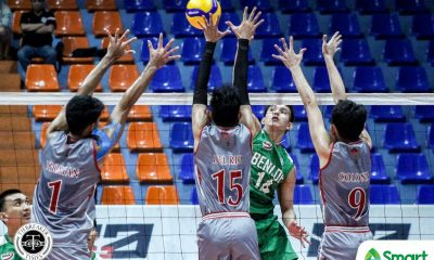 Tiebreaker Times Abrot, Laguit rally CSB Blazers past LPU for bounce back win in NCAA 95 CSB LPU NCAA News Volleyball  Saint Benilde Men's Volleyball NCAA Season 95 Men's Volleyball NCAA Season 95 Lyceum Men's Volleyball Jericho Fajardo James Paul Laguit Harvie Dizon Emil Lontoc Bryan Dumaran Arnold Laniog