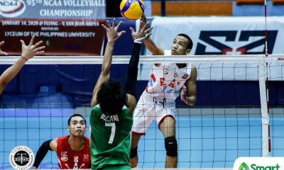 Tiebreaker Times Melad, EAC Generals pounce on wasteful CSB to remain unscathed in NCAA 95 CSB EAC NCAA News Volleyball  Vince Abrot Saint Benilde Men's Volleyball Rod Palmero NCAA Season 95 Men's Volleyball NCAA Season 95 Michael Imperial Joshua Miña Earl Magadan EAC Men's Volleyball Danrich Melad Arnold Laniog
