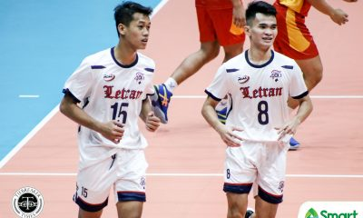 Tiebreaker Times Novo, Doria keep Lyceum at bay, power Letran Knights breakthrough in NCAA 95 CSJL LPU NCAA News Volleyball  NCAA Season 95 Men's Volleyball NCAA Season 95 Michael Doria Lyceum Men's Volleyball Letran Men's Volleyball Kier Tibayan Juvic Colonia Josue Velasco Jhomelle Legaspi Jaypaul Tabbada Emil Lontoc Christopher Cistina Brylle Novo Brian Esquibel