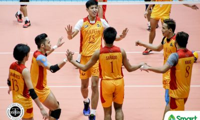 Tiebreaker Times Mapua Cardinals pick up second straight win in NCAA 95, dump San Sebastian MIT NCAA News SSC-R Volleyball  San Sebastian Men's Volleyball Raje Hizon Peter Sanado Paul Doloiras Norvie Labuga NCAA Season 95 Men's Volleyball NCAA Season 95 Mapua Men's Volleyball Karl Tabios
