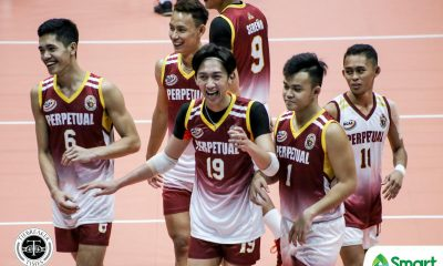 Tiebreaker Times Perpetual Altas blast JRU to go to 5-0 in NCAA 95 JRU NCAA News UPHSD Volleyball  Sammy Acaylar Ryan Dela Paz Perpetual Men's Volleyball NCAA Season 95 Men's Volleyball NCAA Season 95 Louie Ramirez Lester Villaceran JRU Men's Volleyball Jeric Austria Hero Austria EJ Casana