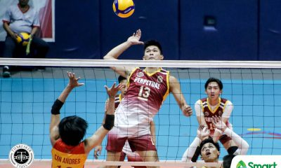 Tiebreaker Times Perpetual Altas subdue Mapua for fourth straight in NCAA 95 MIT NCAA News UPHSD Volleyball  Sammy Acaylar Ronniel Rosales Raje Hizon Perpetual Men's Volleyball Paul Jan Doloiras NCAA Season 95 Men's Volleyball NCAA Season 95 Mapua Men's Volleyball Louie Ramirez John Benedict San Andres Hero Austria EJ Casana Alfredo Pagulong