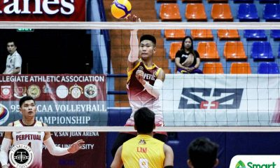 Tiebreaker Times Louie Ramirez stars anew as Perpetual romps San Sebastian in NCAA 95 NCAA News SSC-R UPHSD Volleyball  San Sebastian Men's Volleyball Sammy Acaylar Ronniel Rosales Perpetual Men's Volleyball Norvie Labuga NCAA Season 95 Men's Volleyball NCAA Season 95 Louie Ramirez Jeric Atentar EJ Casana Dominique Ramirez