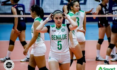 Tiebreaker Times CSB Lady Blazers take solo lead in NCAA 95 after rout of Letran CSB CSJL NCAA News Volleyball  Saint Benilde Women's Volleyball NCAA Season 95 Women's Volleyball NCAA Season 95 Michelle Gamit Michael Inoferio Letran Women's Volleyball Klarisa Abriam Julia Angeles Jewel Lai Jerry Yee Jade Gentapa Christine Lim​ Chelsea Umali Chamberlaine Cunada