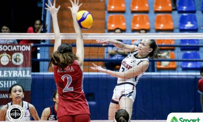Tiebreaker Times Cunada drops career-high as Letran squeaks past Lyceum, bolsters NCAA 95 F4 bid CSJL LPU NCAA News Volleyball  Venice Puzon NCAA Season 95 Women's Volleyball NCAA Season 95 Monica Sevilla Michael Inoferio Lyceum Women's Volleyball Letran Women's Volleyball Julienne Castro Julia Angeles Emil Lontoc Charm Simborio Chamberlaine Cunada Camille Belaro Alexandra Rafael