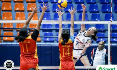Tiebreaker Times Cunada, Castro link up as Letran Lady Knights snap skid, trump Mapua in NCAA 95 CSJL MIT NCAA News Volleyball  NCAA Season 95 Women's Volleyball NCAA Season 95 Michael Onoferio Mapua Women's Volleyball Lorraine Barias Letran Women's Volleyball Julienne Castro Jonina Fernandez Hanna Alvarado Dane Ohya Clarence Esteban Charm Simborio Chamberlaine Cunada Ayena Espiritu