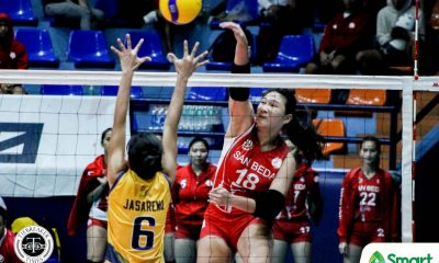 Tiebreaker Times Cesca Racraquin, Nieza Viray prove clutch as San Beda escapes JRU in NCAA 95 JRU NCAA News Volleyball  San Beda Women's Volleyball Nieza Viray Nemesio Gavino NCAA Season 95 Women's Volleyball NCAA Season 95 Mia Tioseco Mary May Ruiz Lynne Matias Kim Manzano JRU Women's Volleyball Jerry Lyn Laurente Dolly Versoza Daryl Racraquin Cesca Racraquin