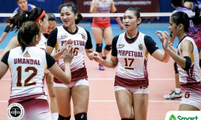 Tiebreaker Times Perpetual Lady Altas stun Arellano in epic NCAA 95 encounter AU NCAA News UPHSD Volleyball  Sarah Verutiao Regine Arocha Princess Bello Perpetual Women's Volleyball Obet Javier NCAA Season 95 Women's Volleyball NCAA Season 95 Macky Cariño Jhona Rosal Jenny Gaviola Faye Ann Flores Dana Persa Arellano Women's Volleyball