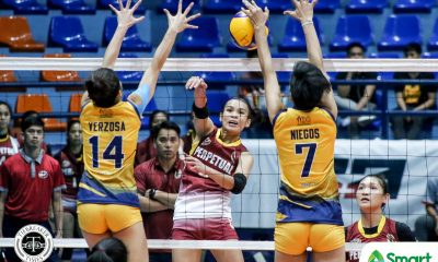 Tiebreaker Times Perpetual Lady Altas diffuse JRU for fourth straight win in NCAA 95 JRU NCAA News UPHSD Volleyball  Shyra Umandal Renesa Melgar Perpetual Women's Volleyball NCAA Season 95 Women's Volleyball NCAA Season 95 Mia Tioseco Macky Cariño Macky Carina JRU Women's Volleyball Jhona Rosal Jenny Gaviola Dolly Versoza Dana Persa Angelica Aquino Angel Rose Bautista