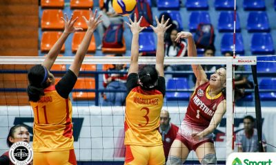 Tiebreaker Times Bianca Tripoli tallies 20 as Perpetual Lady Altas deny Mapua upset in NCAA 95 MIT NCAA News UPHSD Volleyball  Wellamae Ortega Shyra Umandal Perpetual Women's Volleyball NCAA Season 95 Women's Volleyball NCAA Season 95 Mapua Women's Volleyball Macky Cariño Lorraine Barias Jhona Rosal Jenny Gaviola Dana Persa Clarence Esteban Bianca Tripoli Ayena Espiritu Allyssa Sangalang Alissa Magallanes