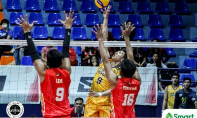 Tiebreaker Times JRU Heavy Bombers rip San Sebastian to open NCAA Season 95 campaign JRU NCAA News SSC-R Volleyball  Wilber Cebrero San Sebastian Men's Volleyball Ryan Dela Paz Robbie Pamittan Norvie Labuga NCAA Season 95 Men's Volleyball NCAA Season 95 Lester Villaceran Jr. June Laxina JRU Men's Volleyball John Mark Lim Arjay Ausina