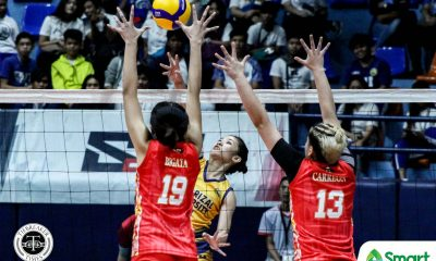 Tiebreaker Times Dolly Versoza buoys JRU Lady Bombers past San Sebastian for first win in NCAA 95 JRU NCAA News SSC-R Volleyball  Veronica Carreon Sydney Niegos Shannai Requierme San Sebastian Women's Volleyball Riza Rose Renesa Melgar NCAA Season 95 Women's Volleyball NCAA Season 95 Mia Tioseco Lyn Laurente Kamille Tan JRU Women's Volleyball Jewelle Bermillo Dolly Versoza