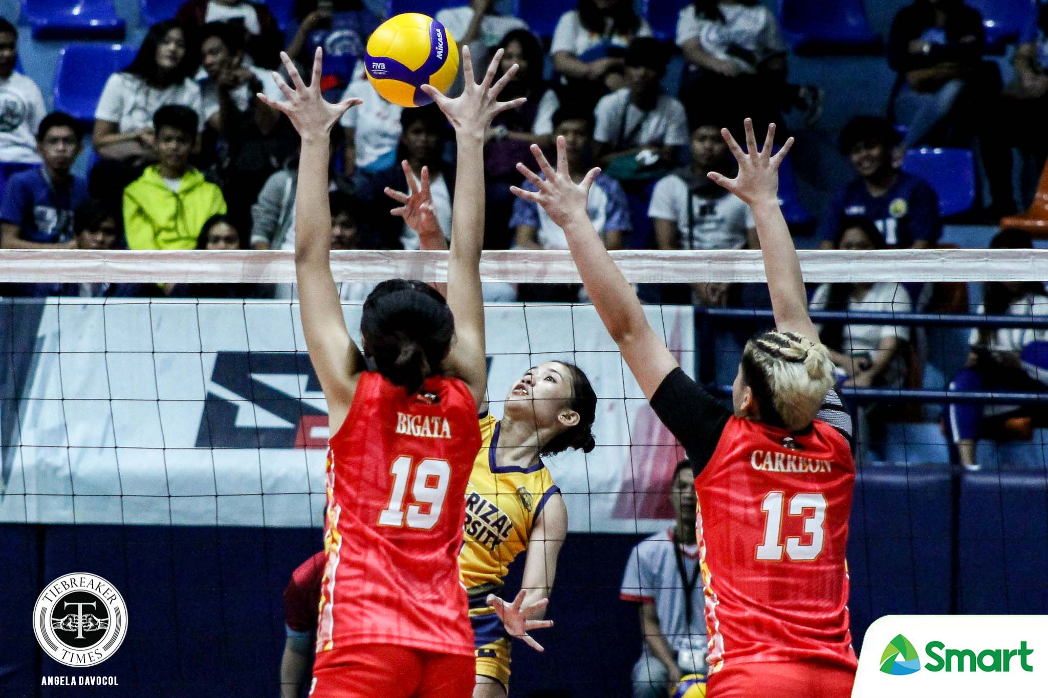 Tiebreaker Times Dolly Versoza comes of age as she becomes JRU's captain JRU NCAA News Volleyball  NCAA Season 95 Women's Volleyball NCAA Season 95 JRU Women's Volleyball Dolly Versoza