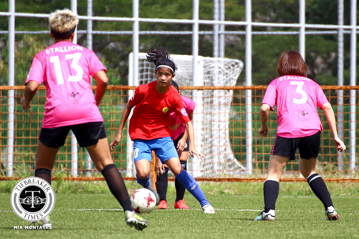 Tiebreaker Times Trebol, Castañeda, Teves boast braces as La Salle breaches 40-point mark in PFFWL DLSU Football News PFF Women's League  Tuloy FC Stallion-Hiraya FC Sara Castaneda Nomads FC Jenny Perez Jayson Turco Isabella Bandoja DLSU Women's Football Arantxa Trebol Anicka Castaneda Angelica Teves Alvin Ocampo Alisha Del Campo Aiza Mondero