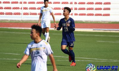 Tiebreaker Times NU-NS routs UST, DLSZ pounds AHS in UAAP 82 Boys Football ADMU DLSU Football News NU UAAP UST  UST Juniors Football UAAP Season 82 Juniors Football UAAP Season 82 Rafael Aldeguer Paolo Go NU Juniors Football Jacob Pena Hans-Peter Smit Fidel Machon Eldrin Madrid Earl Pinero DLSZ Juniors Football Ateneo Juniors Football Adri Caraig