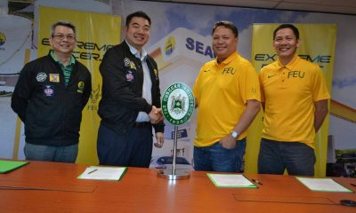 Tiebreaker Times SeaOil backs FEU's PBA D-League campaign Basketball FEU News PBA D-League  SeaOil-FEU Extreme Racers Olsen Racela Mark Molina 2020 PBA D-League Season 2020 PBA D-League Aspirants Cup