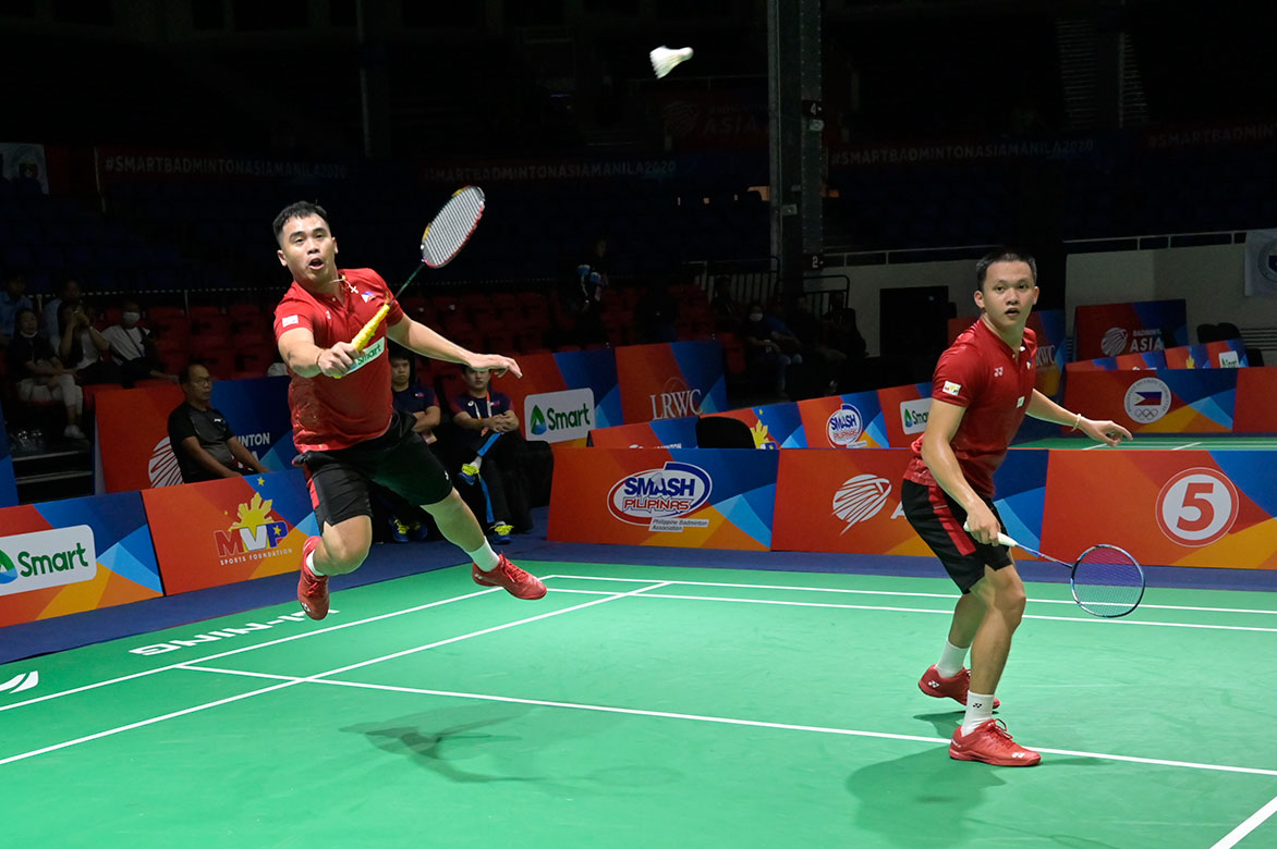 Badminton-Asia-Team-Championship-2020-Men-Chinese-Taipei-def-Philippines-Joper-Escueta-and-Paul-Pantig World no. 2 Chou Tien Chen, Chinese-Taipei wallop Phillippines in Badminton Asia Team 2020 Badminton Asia Team Championships Badminton News  - philippine sports news