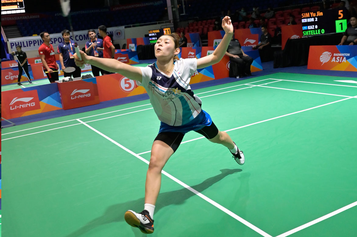 Badminton-Asia-Team-Championship-2020-Women-Korea-def-Kazakhstan-Sim-Wu-Jin World no. 2 Chou Tien Chen, Chinese-Taipei wallop Phillippines in Badminton Asia Team 2020 Badminton Asia Team Championships Badminton News  - philippine sports news