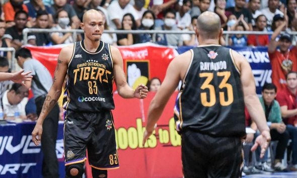 Tiebreaker Times Yee fights on as Davao Occidental guts out OT win over Bicol, advances to MPBL South semis Basketball MPBL News  Mon Kallos Mark Yee JR Ongteco Don Dulay Davao Occidental Tigers Bonbon Custodio Bicol Volcanoes Alwin Alday 2019-20 MPBL Lakan Cup
