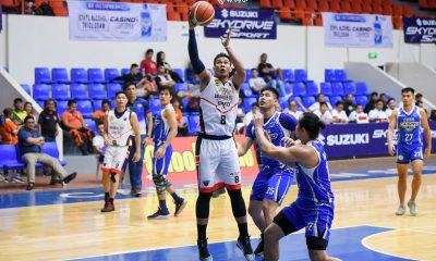 Tiebreaker Times Jhaymo Eguilos powers Batangas rout of Cebu to close out MPBL elims campaign Basketball MPBL News  Woody Co John Saycon Jhaymo Eguilos Fletcher Galvez Cebu Sharks Batangas City-Tanduay Athletics Adi Santos 2019-20 MPBL Lakan Cup