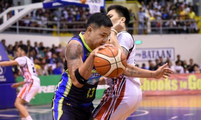 Tiebreaker Times Gary David on triumphant homecoming: 'Tinadhana talaga na dito yung first game ko' Basketball MPBL News  Jonas Villanueva Gary David Bataan Risers 2019-20 MPBL Lakan Cup