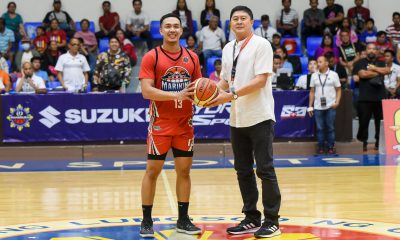 Tiebreaker Times Yves Sazon reaches MPBL 1K club in the most dramatic of ways Basketball MPBL News  Yves Sazon Marikina Shoemasters Elvis Tolentino 2019-20 MPBL Lakan Cup