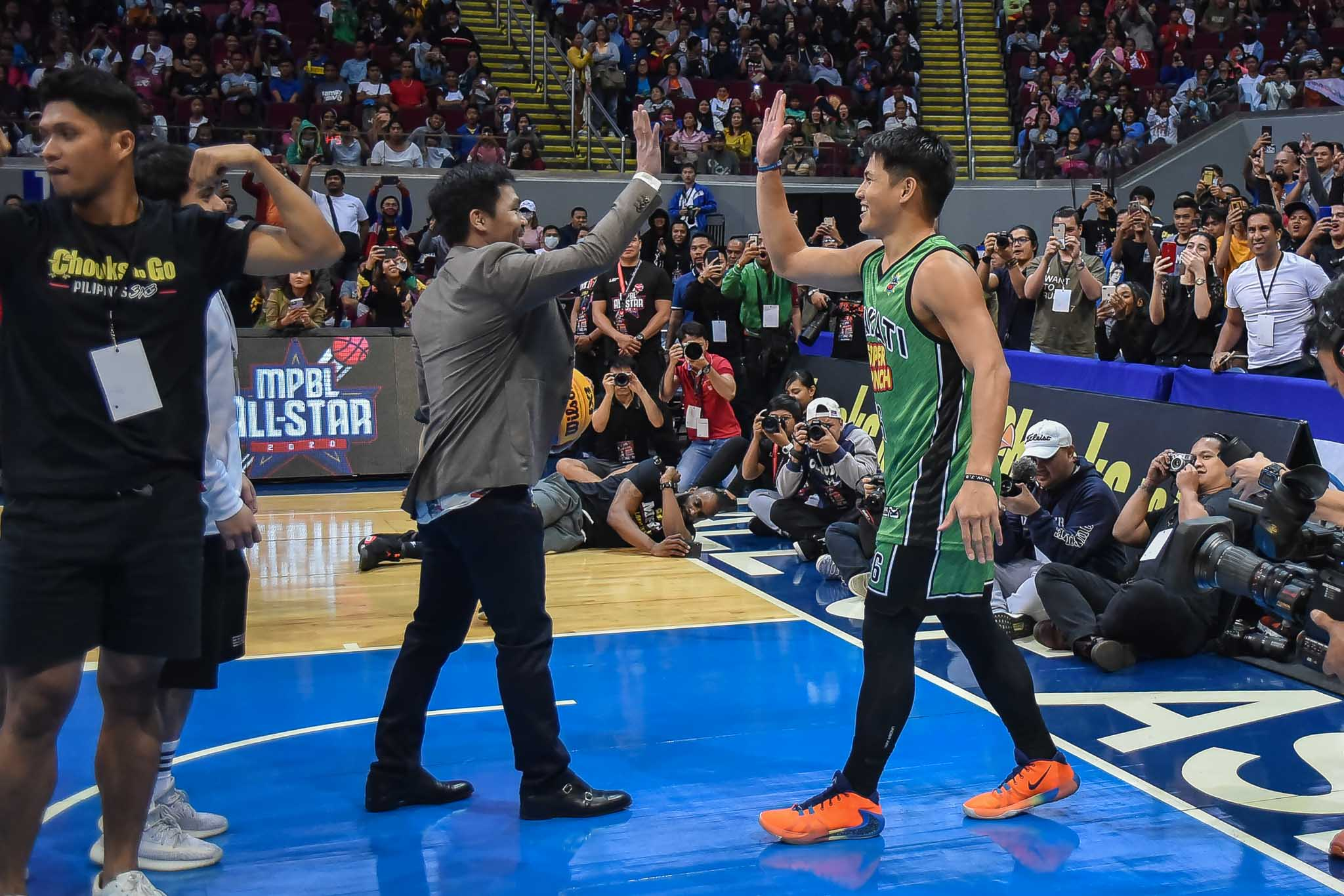 Tiebreaker Times Makati's David Carlos retains MPBL Slam Dunk crown Basketball MPBL News  RJ Ramirez Nick Demusis David Carlos Chris Lalata Biboy Enguio 2019-20 MPBL Lakan Cup