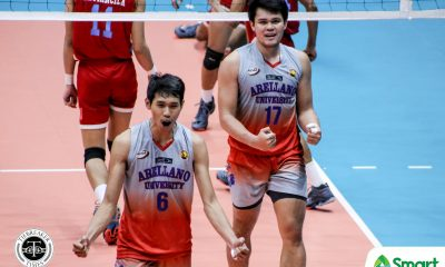 Tiebreaker Times Arellano Chiefs escape EAC, secure NCAA 95 Final Four seat AU EAC NCAA News Volleyball  Sherwin Meneses Rod Palmero NCAA Season 95 Men's Volleyball NCAA Season 95 Michael Imperial Kim Tan Joshua Miña Joshua Esguerra Jesrael Liberato Earl Magadan EAC Men's Volleyball Christian dela Paz Arellano Men's Volleyball Aeron Daduya Adrian Villados