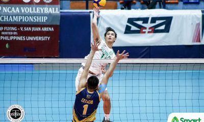 Tiebreaker Times CSB Blazers fend off JRU, inch closer to NCAA 95 Final Four CSB JRU NCAA News Volleyball  Wilbert Cebrero Vince Abrot Saint Benilde Men's Volleyball Ryan Dela Paz Roniey Adviento NCAA Season 95 Men's Volleyball NCAA Season 95 Miguel Estacio Matthew Miguel Kevin Magsino Kenneth Daynata JRU Men's Volleyball Joshua De Sequera Arnold Laniog Ajian Dy