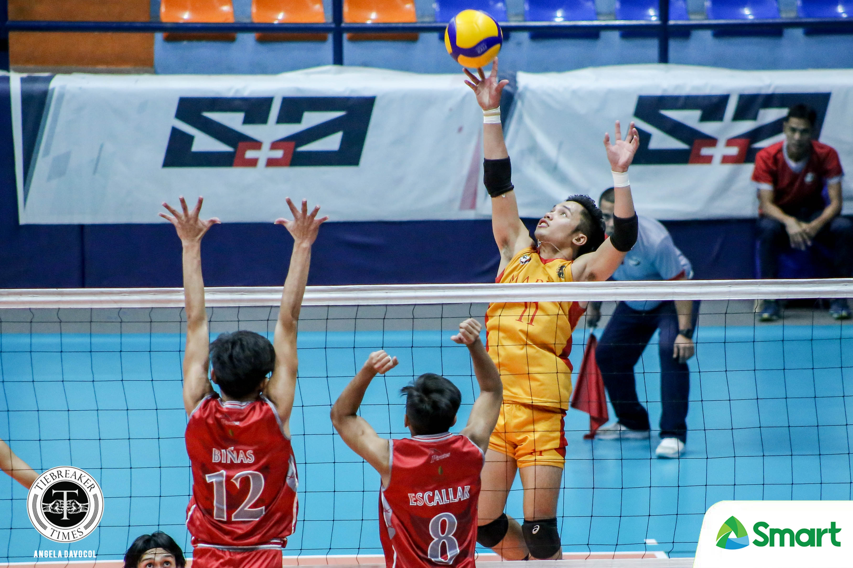 Tiebreaker Times Mapua Cardinals soar past Lyceum for fourth straight NCAA 95 win LPU MIT NCAA News Volleyball  Raje Hizon Paul John Doloiras NCAA Season 95 Men's Volleyball NCAA Season 95 Mapua Men's Volleyball Lyceum Men's Volleyball Karl Tabios Juvic Colonia John Silva John Benedict San Andres Emil Lontoc Deon Colorado Alfredo Pagulong