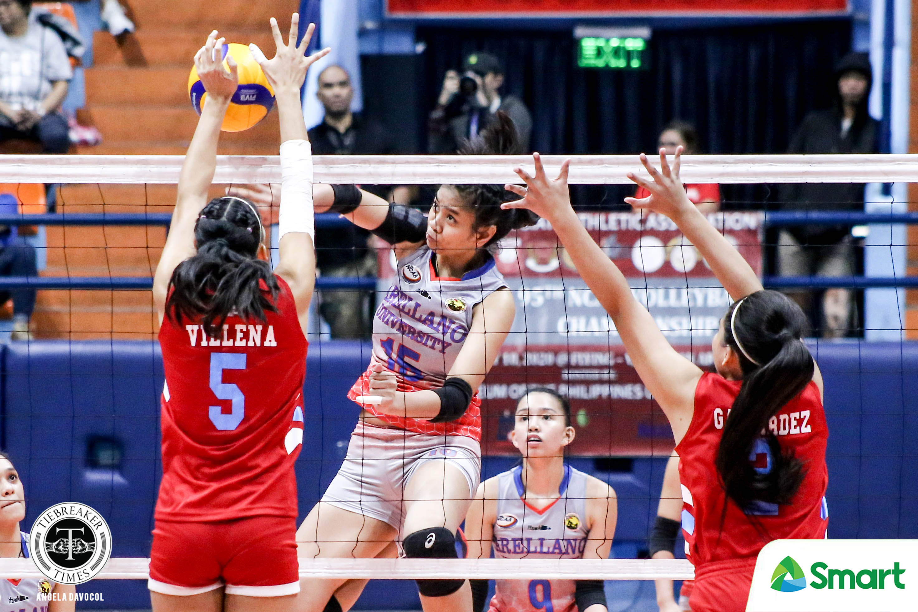 Tiebreaker Times Arocha-less Arellano Lady Chiefs sweep EAC, stay within range of NCAA 95 twice-to-beat AU EAC NCAA News Volleyball  Sarah Verutiao Rod Palmero Princess Bello Obet Javier Necole Ebuen NCAA Season 95 Women's Volleyball NCAA Season 95 Kristine Cancio EAC Women's Volleyball Cathrine Almazan Carla Donato Arellano Women's Volleyball