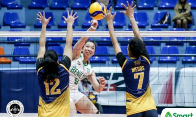 Tiebreaker Times CSB Lady Blazers torch JRU, clinch NCAA 95 semis berth CSB JRU NCAA News Volleyball  Saint Benilde Women's Volleyball Renesa Melgar NCAA Season 95 Women's Volleyball NCAA Season 95 Mycah Go Mia Tioseco JRU Women's Volleyball Jerry Yee Gayle Pascual Cloanne Mondonedo Christine Lim​ Angel Bautista