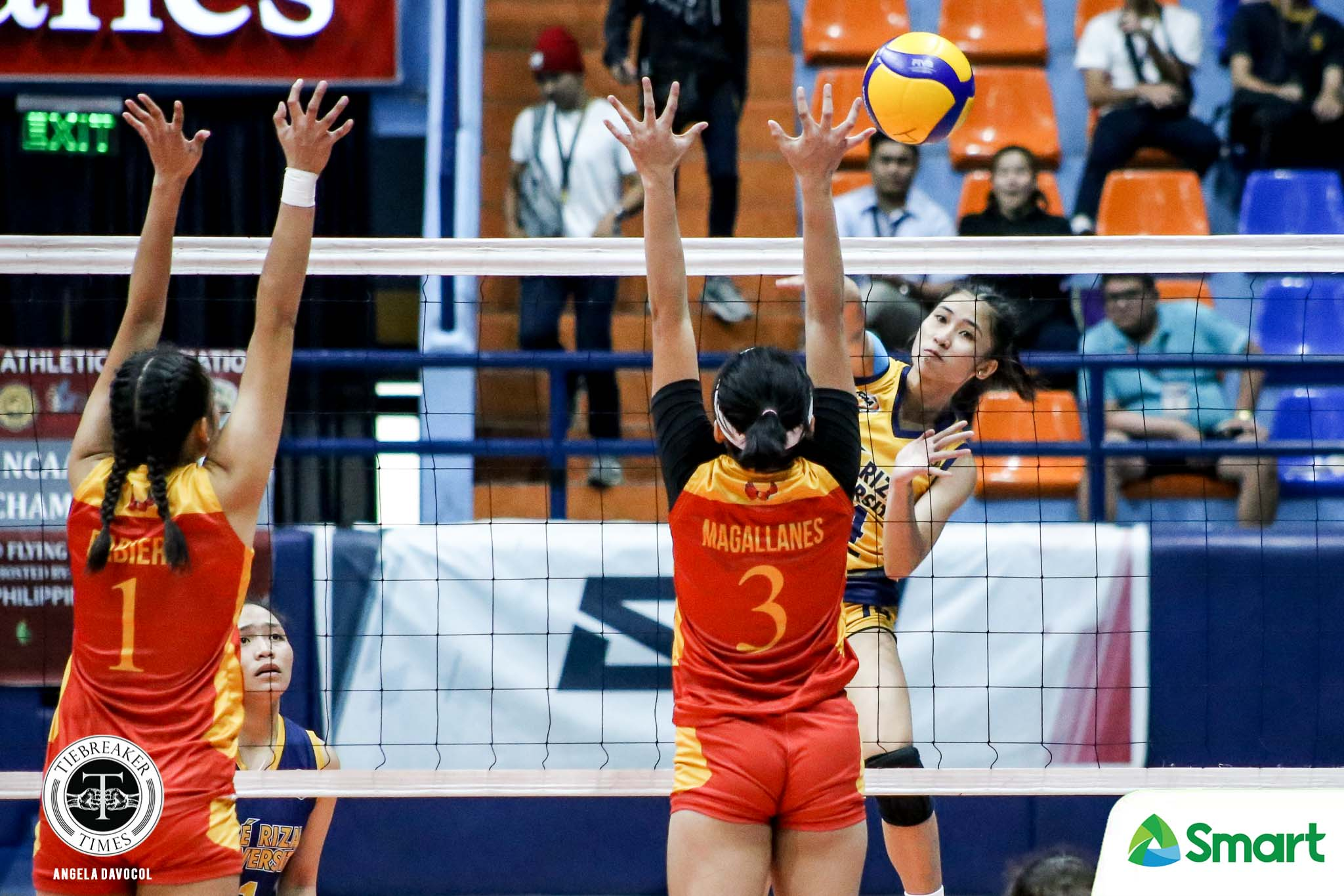 Tiebreaker Times JRU Lady Bombers blast Mapua for second straight win in NCAA 95 JRU MIT NCAA News Volleyball  Sydney Niegos NCAA Season 95 Women's Volleyball NCAA Season 95 Mia Tioseco Mapua Women's Volleyball JRU Women's Volleyball Jonina Fernandez Dolly Versoza Clarence Esteban Angel Bautista Alissa Magallanes
