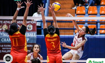Tiebreaker Times Nieza Viray's all-around wares power San Beda Lady Red Spikers to NCAA 95 semis MIT NCAA News SBC Volleyball  San Beda Women's Volleyball Nieza Viray Nemesio Gavino Jr. NCAA Season 95 Women's Volleyball NCAA Season 95 Mapua Women's Volleyball Lynne Matias Lorraine Barias Kim Manzano Jonina Fernandez Daryl Racraquin Clarence Esteban Cesca Racraquin