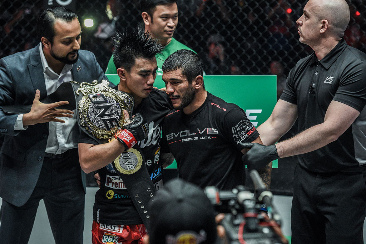 Tiebreaker Times Joshua Pacio earns Alex Silva's nod: 'He deserves to be on top' Mixed Martial Arts News ONE Championship  ONE: Fire and Fury Joshua Pacio Alex Silva