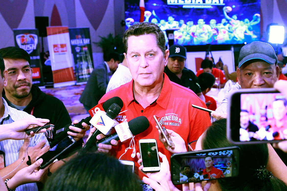 Tiebreaker Times Tim Cone believes Greg Slaughter will be back sooner than later Basketball News PBA  Tim Cone PBA Season 45 Greg Slaughter Barangay Ginebra San Miguel