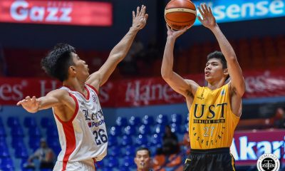 Tiebreaker Times UST deals Letran 30-point beating to open PCCL: UAAP-NCAA Challenge campaign Basketball CSJL News UST  UST Men's Basketball Pao Javillonar Letran Seniors Basketball Kurt Reyson Jun Asuncion Jeff Napa Fran Yu CJ Cansino Aldin Ayo 2020 PCCL National Championship