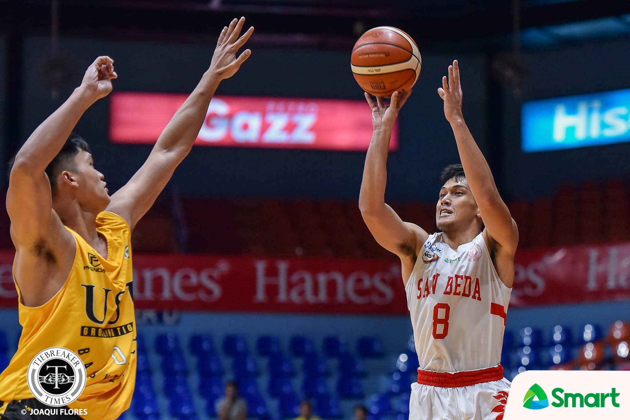 Tiebreaker Times Peter Alfaro continues surge vs UST as San Beda advances to PCCL Final Four Basketball News SBC UST  UST Men's Basketball San Beda Seniors Basketball Ralph Penuela Peter Alfaro James Canlas CJ Cansino Brent Paraiso Boyet Fernandez Aldin Ayo 2020 PCCL National Championship