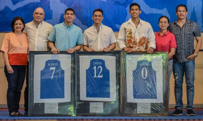 Tiebreaker Times Ateneo Grade School retires Nieto twins', Thirdy Ravena's numbers ADMU Basketball News UAAP  UAAP Season 82 Men's Basketball UAAP Season 82 Thirdy Ravena Mike Nieto Matt Nieto Ateneo Boys Basketball