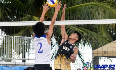 Tiebreaker Times UST's Dela Noche-Iraya sweep AHS to remain undefeated in UAAP 82 Boys Beach Volleyball ADMU AdU Beach Volleyball DLSU FEU News NU UAAP UE UP UST  UST Boys Volleyball UPIS Boys Volleyball UE Boys Volleyball UAAP Season 82 Boys Beach Volleyball UAAP Season 82 Reymart Reyes NU Boys Volleyball Mikka Mendoza Miguel Castro Jvon Berdin John Lithuania JM Apolinario Jelord Talisayan Jefferson Marafol Jay Rack Dela Noche Jann Mark Pijo Giulian San Juan Francis Babon FEU Boys Volleyball Evander Novillo DLSZ Boys Volleyball Carl Cabatac Brett Borja Ateneo Boys Volleyball Andre Espejo Alexander Iraya Adamson Boys Volleyball