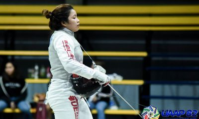 Tiebreaker Times Sam Catantan opens UE Jr. Lady Warriors nine-peat bid in dominant fashion ADMU Fencing FEU News UAAP UE UST  UST Girls' Fencing UST Boys' Fencing UE Girls' Fencing UE Boys' Fencing UAAP Season 82 High School Fencing UAAP Season 82 Shawn Felipe Samantha Catantan Patricia Daladar Maricar Matienzo Jesus Tolentino Janna Catantan FEU Boys' Fencing Enrico Suplico Edan Esmantan Christian Mira Aurell Abzunar Ateneo Boys' Fencing