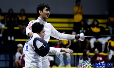 Tiebreaker Times Sam Tranquilan leads UE to two UAAP 82 Men's Fencing Team golds ADMU DLSU Fencing News UAAP UE UST  UST Men's Fencing UE Men's Fencing UAAP Season 82 Men's Fencing UAAP Season 82 Sammuel Tranquilan DLSU Men's Fencing Ateneo Men's Fencing