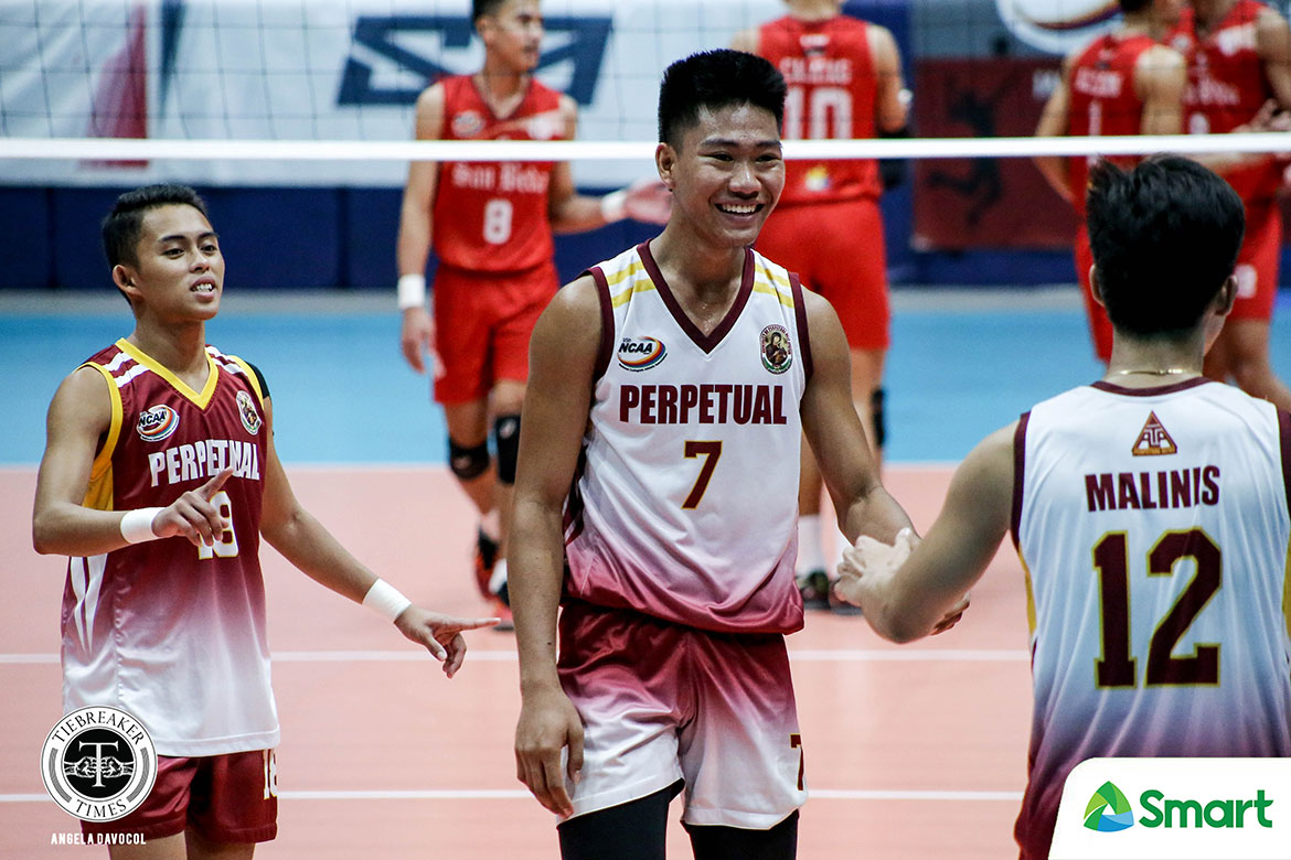 Tiebreaker Times Perpetual Altas sweep San Beda, clinch NCAA 95 Final Four berth NCAA News SBC UPHSD Volleyball  San Beda Men's Volleyball Sammy Acaylar Ronniel Rosales Perpetual Men's Volleyball NCAA Season 95 Men's Volleyball NCAA Season 95 Melver Lapurga Louie Ramirez Jeffrey Losa Hero Austria EJ Casana Ariel Dela Cruz