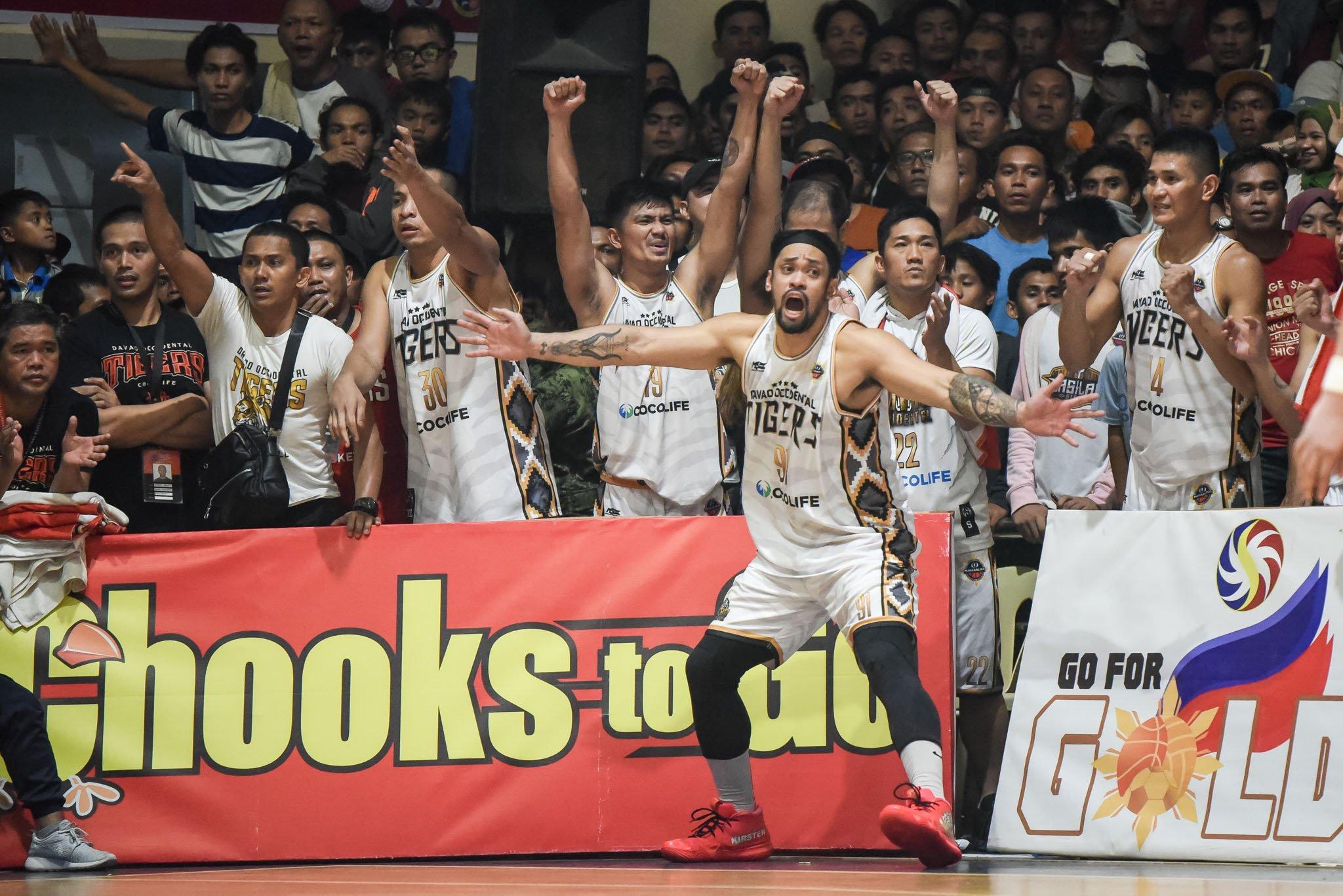 2019-Chooks-MPBL-Basilan-vs-Davao-Davao-bench MPBL suspends Division Finals indefinitely due to coronavirus pandemic Basketball MPBL News  - philippine sports news