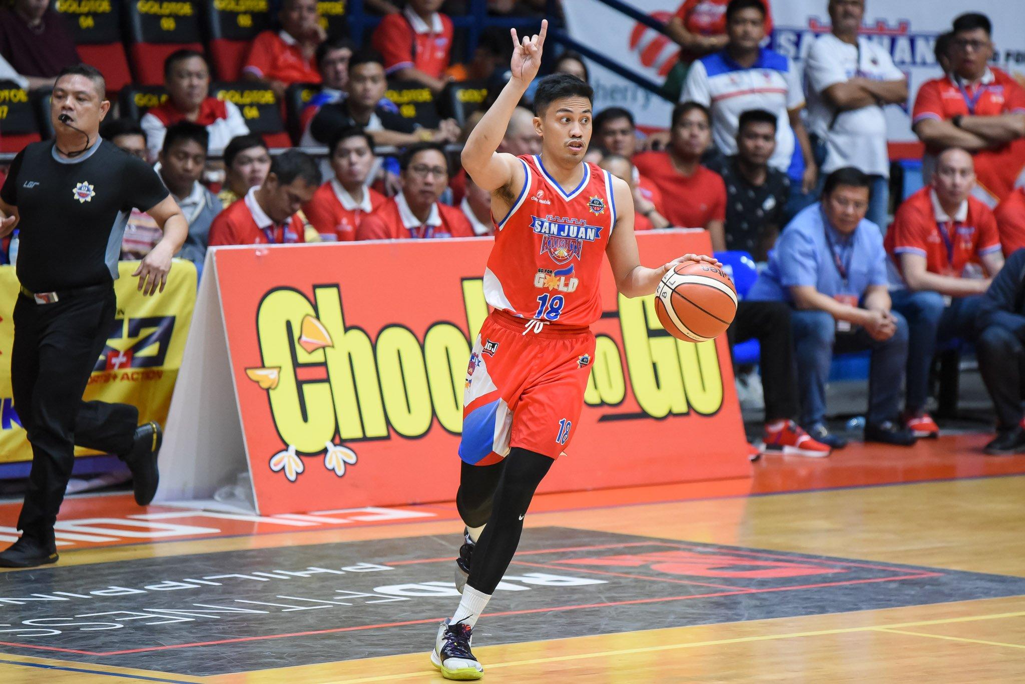 Tiebreaker Times Ayonayon sees no advantage between San Juan-Makati when MPBL playoffs resume Basketball MPBL News  Mike Ayonayon Go for Gold-San Juan Knights 2019-20 MPBL Lakan Cup