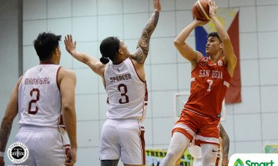 Tiebreaker Times Oftana, San Beda escape Rivero-led UP, set up PCCL title showdown with Ateneo Basketball News SBC UP  UP Men's Basketball San Beda Seniors Basketball Ricci Rivero Ralph Penuela David Murrell Calvin Oftana Boyet Fernandez Bo Perasol 2020 PCCL National Championship