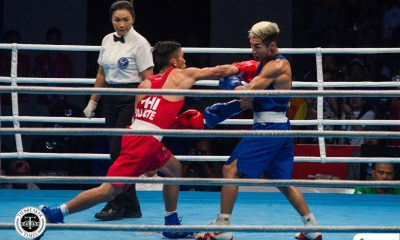 Tiebreaker Times James Palicte's Olympic dream ends at hands of Uzbek Boxing News  James Palicte 2020 Asia and Oceania Olympic Boxing Qualifiers