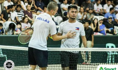 Tiebreaker Times Petros Tsitsipas digs Philippines an 0-2 hole in Davis Cup Davis Cup News Tennis  Philippine Men's National Tennis Team Petros Tsitsipas Jeson Patrombon Greece (Tennis) 2020 Davis Cup