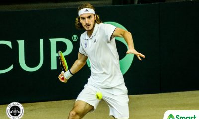 Tiebreaker Times Stefanos Tsitsipas stamps world-class flair in dominant Davis Cup win over AJ Lim Davis Cup News Tennis  Stefanos Tsitsipas Philippine Men's National Tennis Team Greece (Tennis) AJ Lim 2020 Davis Cup