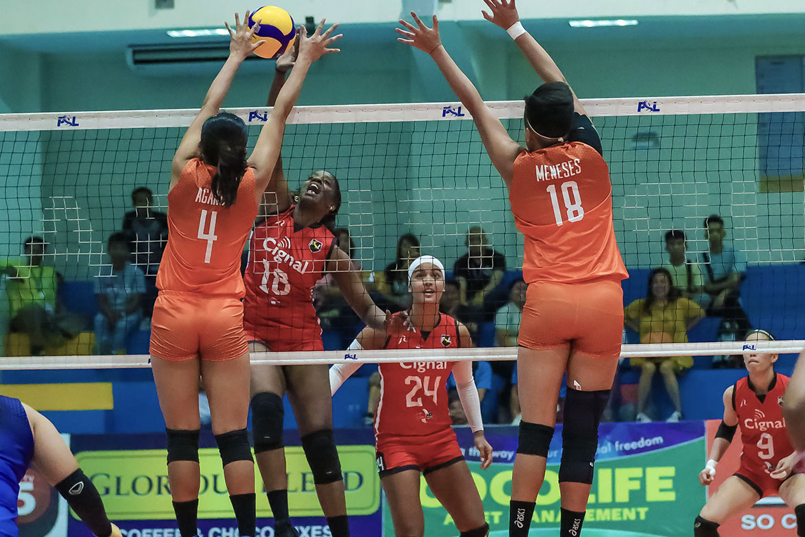 Tiebreaker Times Liannes Simon plays through jetlag, leads Cignal past Generika-Ayala in PSL GP News PSL Volleyball  Sherwin Meneses Roselyn Doria Ranya Musa Mika Lopez Liannes Simon Generika-Ayala Lifesavers Elizabeth Campos Edgar Barroga Cignal HD Spikers Alohi Robins-Hardy 2020 PSL Grand Prix